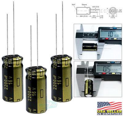 Panasonic Fm 2200uf 16v Radial Low-esr Aluminum Electrolytic Capacitor Pack 3