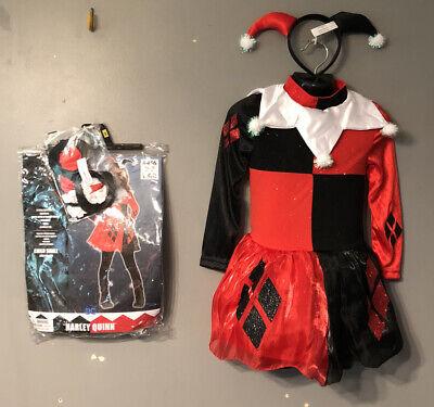 Harley Quinn Halloween Costume kids Sz Sm 4-6 Years