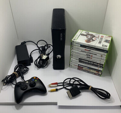 Xbox 360 Slim 4GB Console Bundle With 13 Games and 1 Controller - PAL
