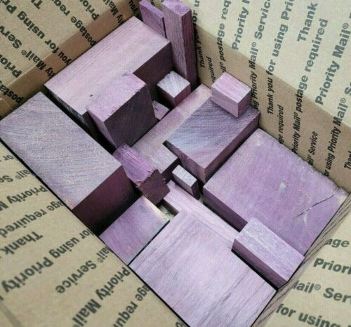Exotic Solid Purpleheart Small Scrap Wood Lumber Purple Heart Hardwood