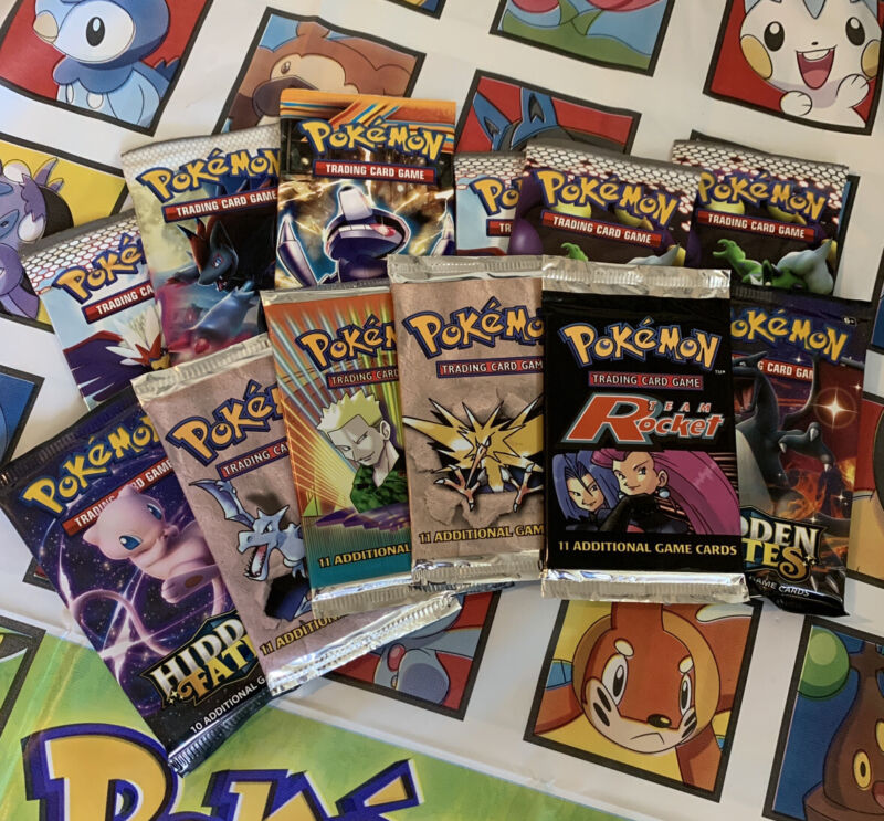 Pokemon Mystery Box** 3 Packs**  $24.99 With Chance Of Vintage Wotc Pack + More!