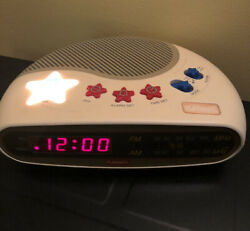 Playskool Alarm Clock Radio Kids Music Player Nightlight Digital AM/FM PS-360