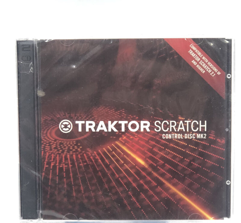 Traktor Scratch Control Disc MK2 - Sealed CD Compatible With 2.1 And Higher NEW