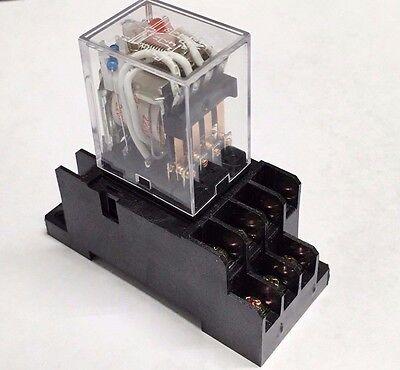 Relay My4n-j My4n My4 220v 240v 220vac Coil With Socket Base Pyf14a