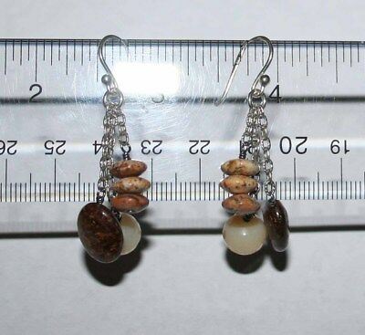 Silpada Sterling Silver Bronzite, African Opal & Jasper Earrings W1812