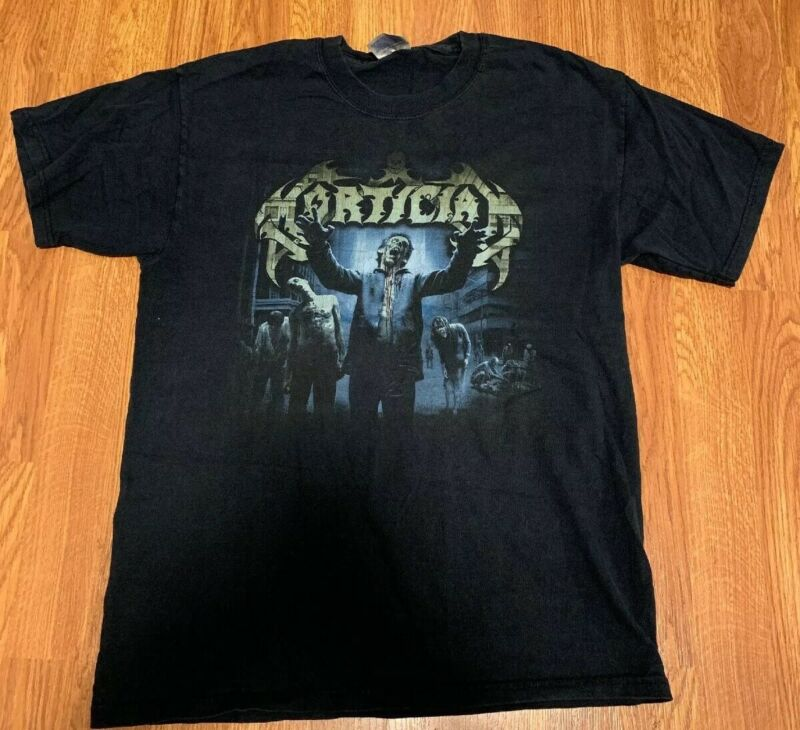 Vintage Mortician - Darkest Day Of Horror - 2003 -(Death Grind Band) T-Shirt -M