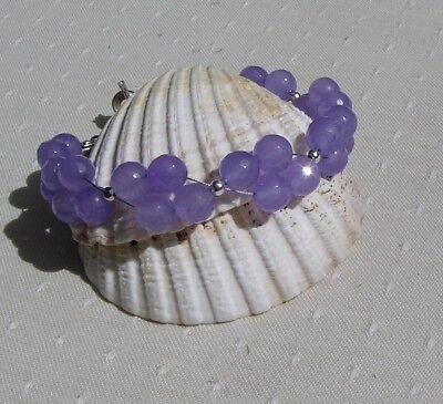 Lilac Alexandrite Crystal Gemstone Beaded Bracelet