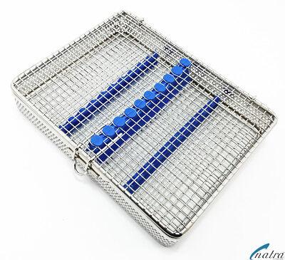Sterilisation Cassette Rack Tray Surgical Dental 10 Instruments Natra Germany