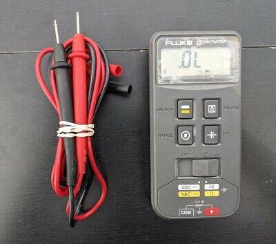 Fluke 12 Handheld Digital Multimeter W Leads - Tested Cleaned Sanitized