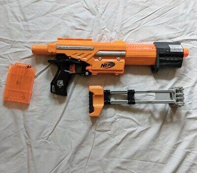Nerf N-Strike Elite Alpha Trooper CS-6 Orange Blaster (w/ stock) *Good Condition