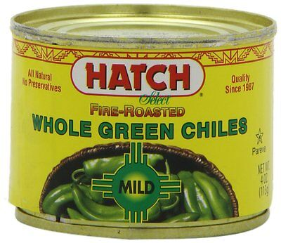 (Hatch Chile Company Fire Roasted Whole Green Chiles, Mild, 4-Ounce (Pack of 12))