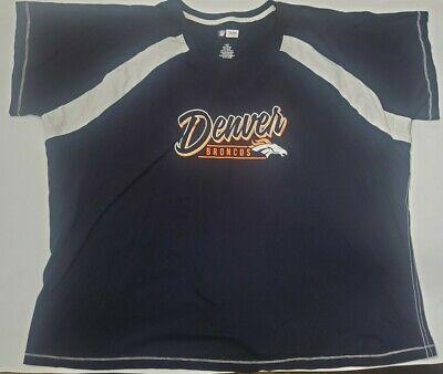 Denver Broncos NFL Womens Plus Size 3X Short Sleeve T-Shirt Blue New  Denver Broncos Womens Top