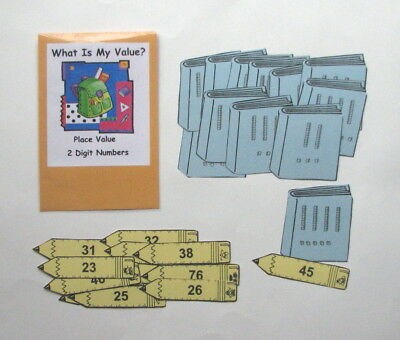 Teacher Made Math Center Learning Resource Game Place Value 2 digits Tens & Ones (Learning Resources Place)