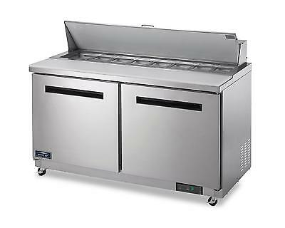 Arctic Air Ast60r 60 Stainless Steel Sandwich Salad Prep Cooler