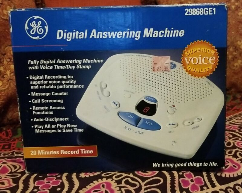 GE Digital Messaging Answering Machine New Old Stock Sealed! 2000