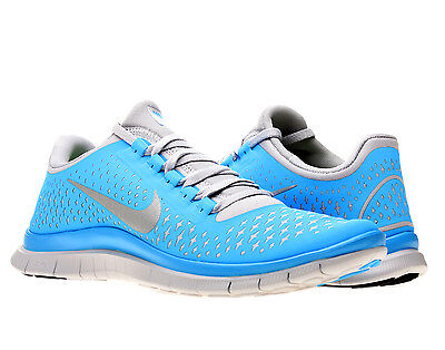 Nike Free 3 0 V4 Mens Wolf Grey Silver Blue Glow Running Shoes 511457 014 | eBay