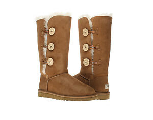 chestnut bailey button triplet womens ugg boots