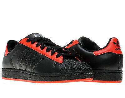 adidas superstar black red