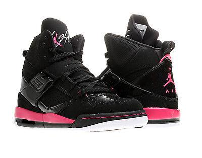 Nike Air Jordan Flight 45 High GS Black Girls Basketball Shoes 524864
