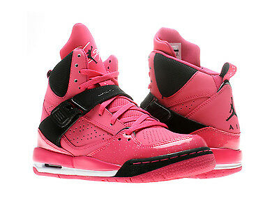 Nike Air Jordan Flight Team 11 Vivid Pink Girls Basketball Shoes
