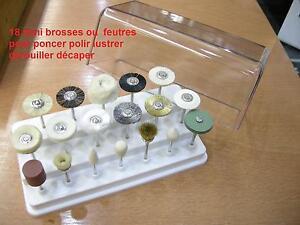 coffret de 18 mini brosse feutre disque polir satiner. Black Bedroom Furniture Sets. Home Design Ideas