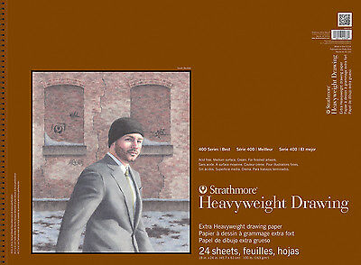 """STRATHMORE 400-218 400 SERIES ST 18"""" X 24"""" HEAVYWEIGHT DRAWING PAD"""