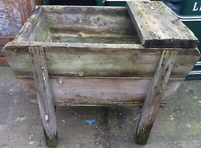 Pine Dough Washing Bin Farm Yard Feed Manger Garden Trough Stand Cattle Horse