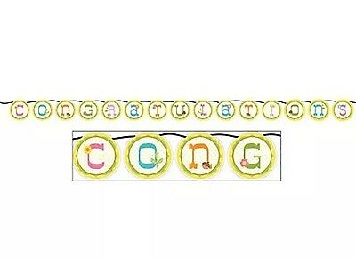Happi Tree Baby shower Party Supplies circle Paper Banner 5.5' (Happy Tree Baby Shower Decorations)