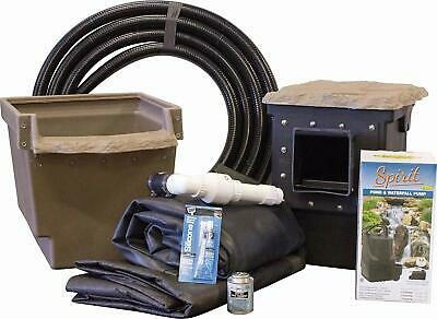 EasyPro ET66FB Mini Pond Kit-Complete for 6x6 Foot Pond-with Liner, Pump & More