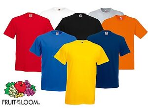 Bulk Buy 10 Fruit Of The Loom Plain Cotton T Shirts
