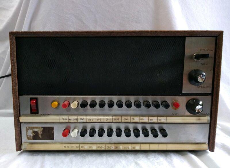 Vintage Dukane Public Address Controller 20 Output 9A960 &  4A876A/4A881A EUC