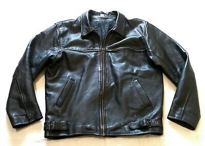 SUPER COOL VINTAGE LEATHER HIGHWAYMAN STYLE JACKET - BIKER ROCKABILLY - 1950s