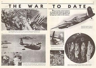 1941 WW 2 print article The AIR WAR to DATE , Short Sunderland, Blackburn 062018