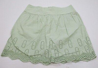 new ANN TAYLOR LOFT #SH8100 Women's Size 8 Casual 100% Cotton Green Maxi Skirt
