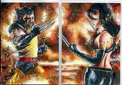 Marvel Women Of Marvel Series 2 Dual Sketch Card By Matt Glebe