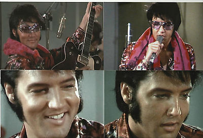 Elvis Presley 10 Photo Color Set-1970 Rehearsals in Paisley Shirt & FREE CD