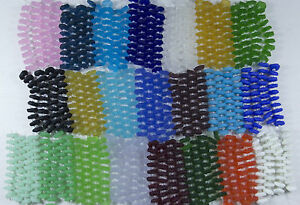 Strand-of-Frosted-Matte-FREEFORM-BUTTON-Beach-Sea-Glass-Beads-YOU-PICK-22-COLORS