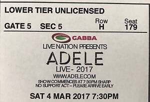 Adele ticket Sat 4th Brisbane Palm Beach Gold Coast South Preview