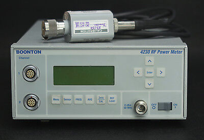 Boonton 4230 Dual Channel Power Meter With 51071 Sensor .01-26.5 Ghz -70 20dbm