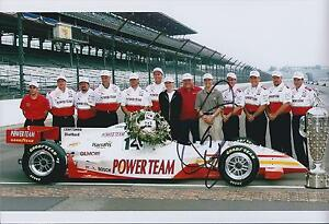 Kenny-BRACK-12x8-Signed-INDYCAR-Race-Team-Photo-Autograph-Genuine-AFTAL-COA