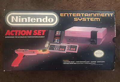 Nintendo NES Action Set BOX ONLY Console super snes power sports System RARE!