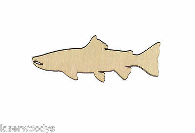 Salmon Fish Unfinished Wood Shape Cut Out S4629 Crafts Lindahl Woodcrafts