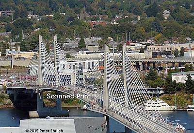 Original Photograph: Portland MAX 500s on Tilikum Crossing Bridge OB (5 x 7)