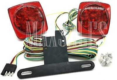 Auto 12V LED Trailer Towing Light Kit For Camper Boat Truck Towing