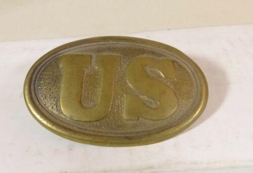 Civil War US Brass Union Belt Buckle, Repo New