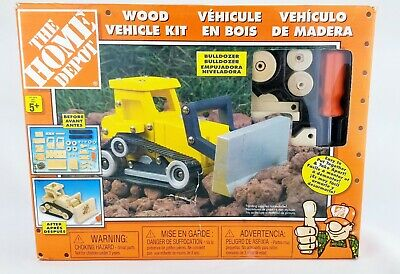 Bulldozer Home Depot Wood Vehicle Model Kit Wooden Rolling Toy Vehicle 04 03