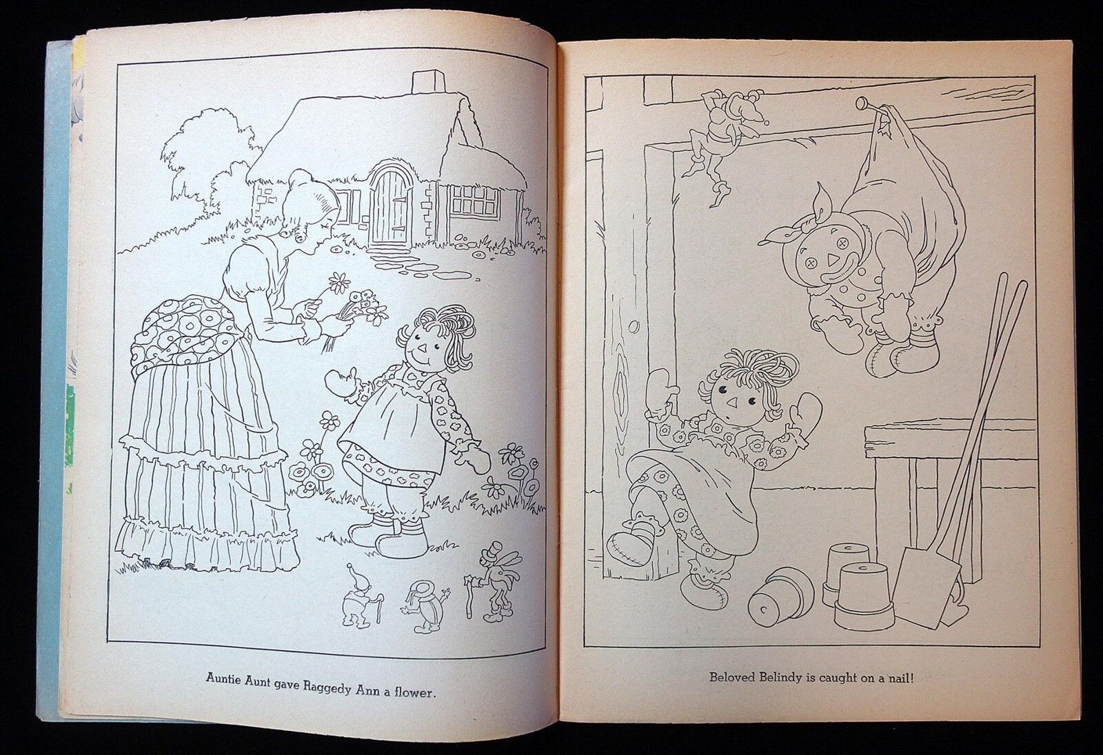 Un-Cut Coloring & Paper Doll Book - Raggedy Ann & Andy 1944 Johnny Gruelle