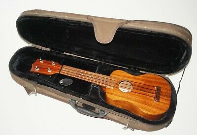 "Vintage Hawaii Koa Wood Kamaka Ukulele 20.5"" in Case KK (Auj)"