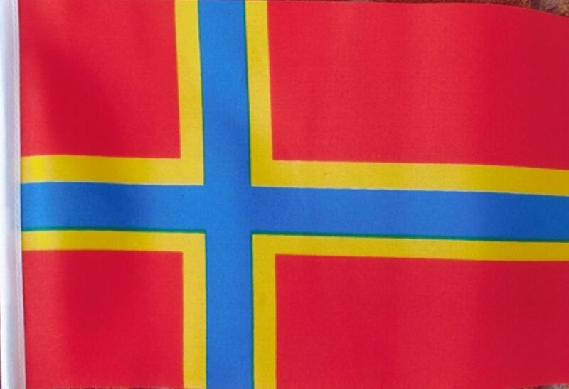 """ORKNEY ISLES ISLANDS ISLAND BUDGET FLAG small 9""""x6"""" GREAT FOR CRAFTS FLAGS"""