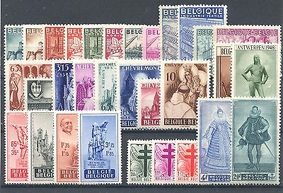 BE - BELGIUM 1948 complete year set MNH